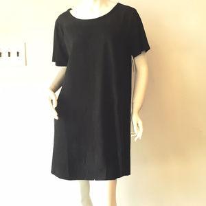 NWT   Olivaceous Black Stretch Mini Dress